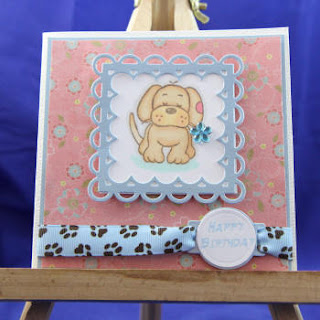 Challenge 1 - use the last craft item you bought to make a card Puppy+Nellie+Snellen2_1_1
