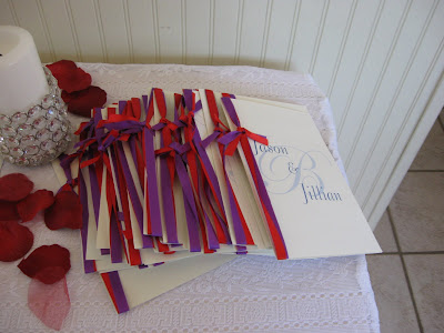Wedding Programs for Jason and Jillian ceremony
