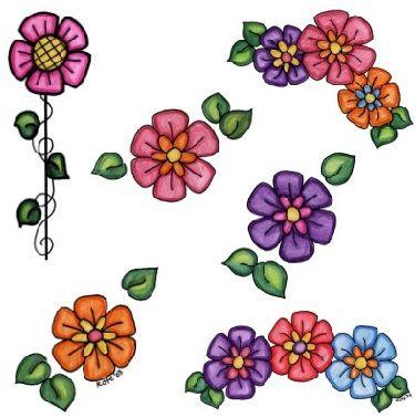 Dibujos de flores hermosas para descargar, imprimir y