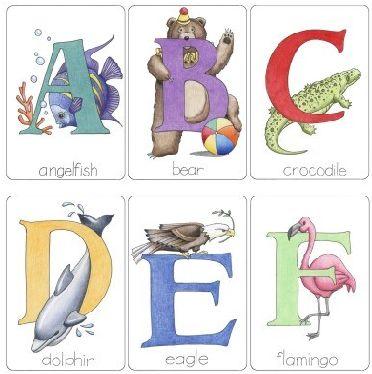 De la A a la F Alfabeto en ingles para imprimir