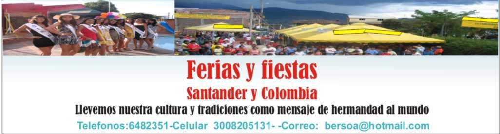 Ferias y fiestas: Colombia y Santander