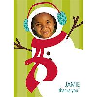 peeka boo snowman card
