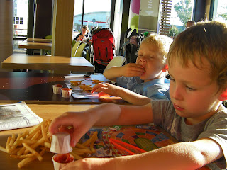 chips and chicken nuggets at McDonalds portsmouth