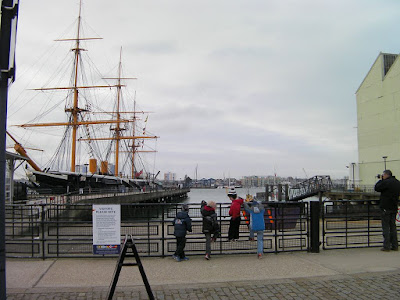 hms warrior in portsmouth harbour, tourist attraction