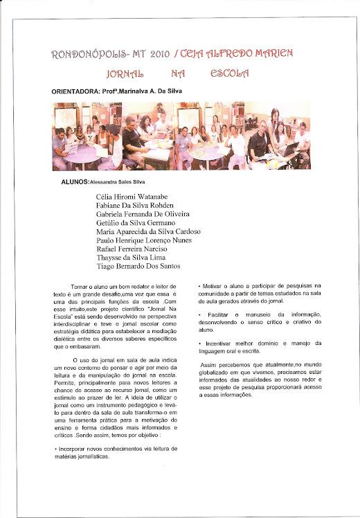 Projeto Científico: Jornal na Escola