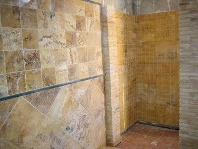 Encimeras de cocina joanpe ba o chapado en travertino amarillo oro envejecido - Banos con marmol travertino ...