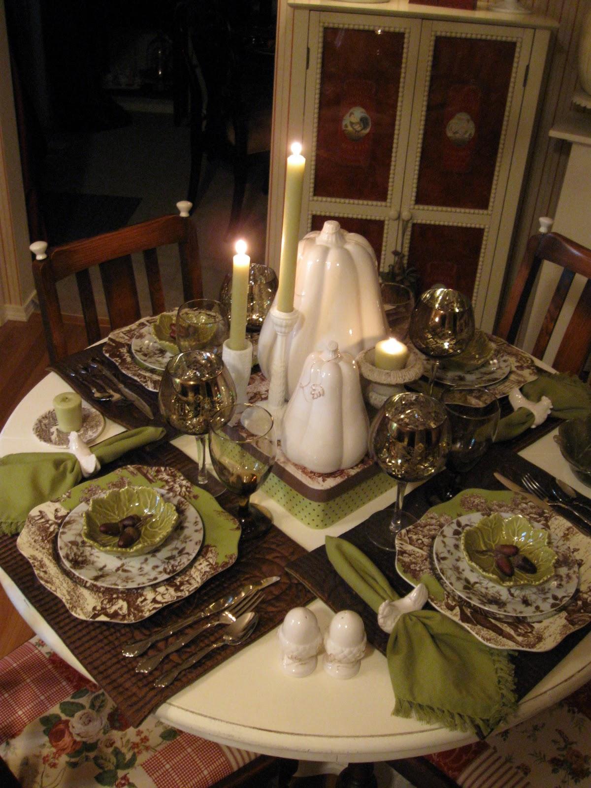 Royal Touch Tablescape Thursday Ceramic Pumpkins Repeat