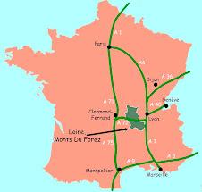 Situer le Forez et le dpt de la Loire