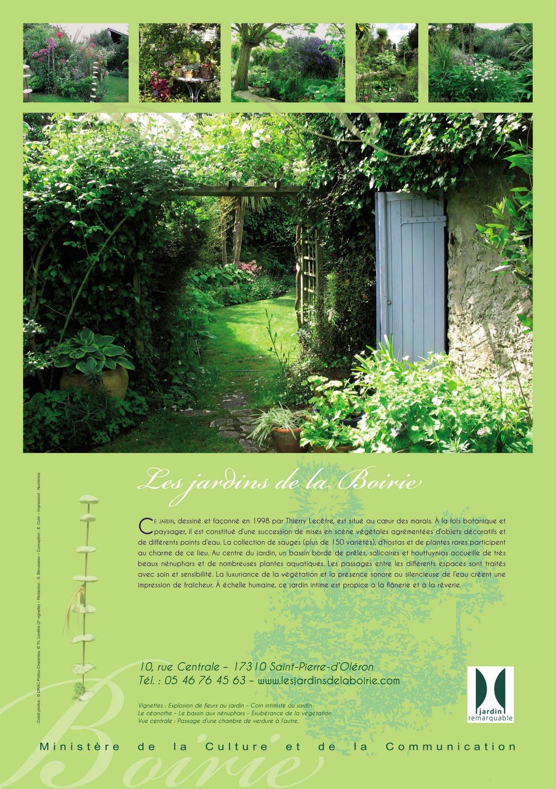 Label jardin remarquable les jardins botaniques de la boirie for Jardin remarquable