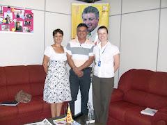 Reunião com a Diretora do SENAC Livramento - Patrícia Wortmann Reis, Vereador Edmundo, Jurema Fróes