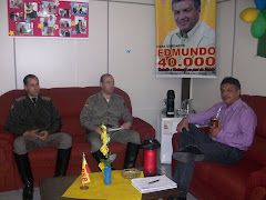 Presidente do Legisltivo Recebe visita do Cel. Alfredo Vilanova e do Cap. Laerte Maciel