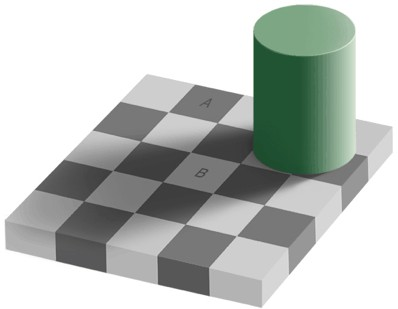 shaded tile optical illusion