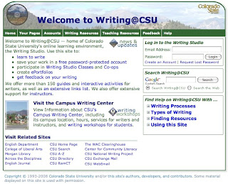 Writing @ CSU screenshot