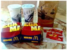 Lunch : McDonald's Mega Mac