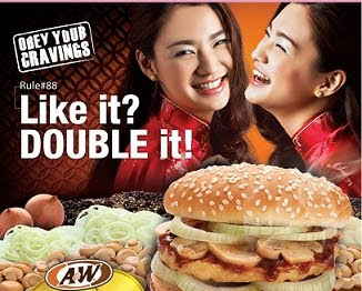 A&W Double Fortune Burger tbaekk!!