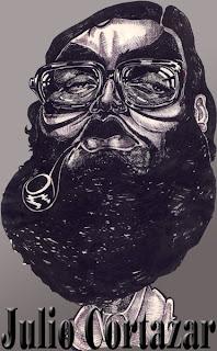 Julio Cortazar según el caricaturista Gustavo Torchia