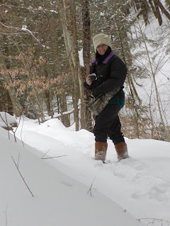 Lee on a photo-hike in Vermont snow, between the blizzards December 15 2007