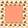 Thanksgiving turkey frame border graphic