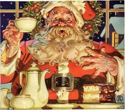 vintage Santa Claus graphic