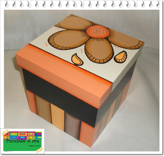 Pinceladas al aire cajas - Cajas de carton pequenas decoradas ...