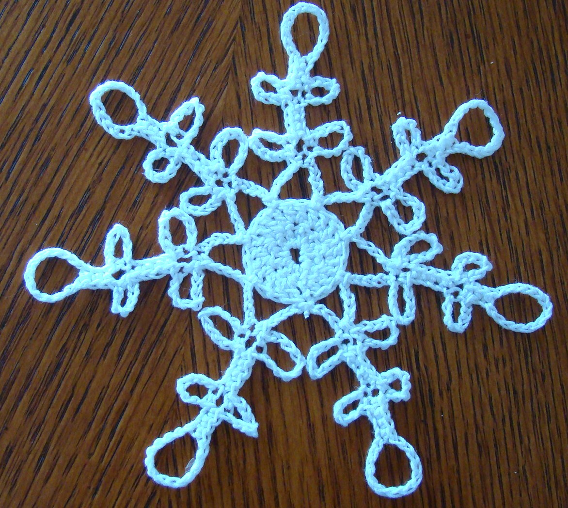 Free Crochet Pattern Snowflakes Ornament : Crafts By Starlight: Crochet Snowflake