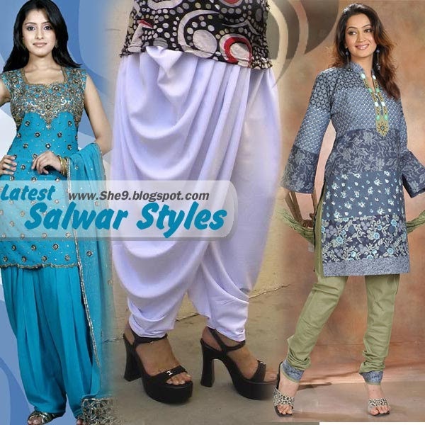 Womens World Latest Salwar Styles Trend New Shalwar Patterns