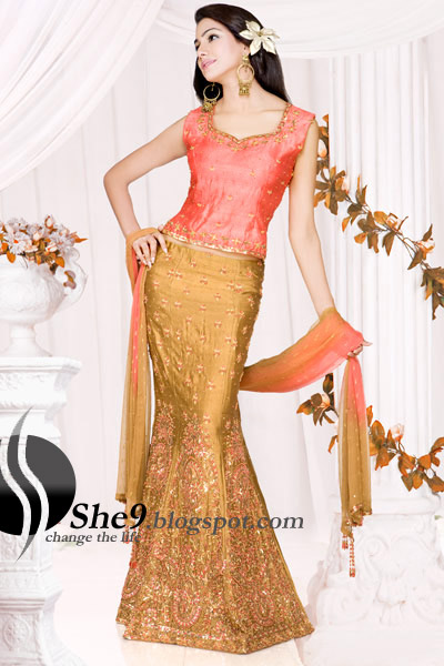 stylish wedding dress so these types of bridal Indian lehenga are
