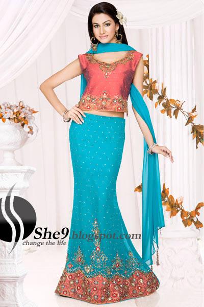 Bridal lehenga modern indian lehnga choli indian fashion clothing