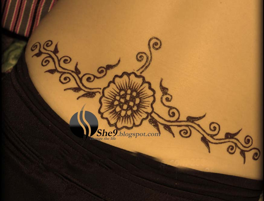 Mehndi Back Tattoo Designs : Henna lower back tattoo designs makedes