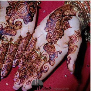Very Dark Punjabi Mehndi Design