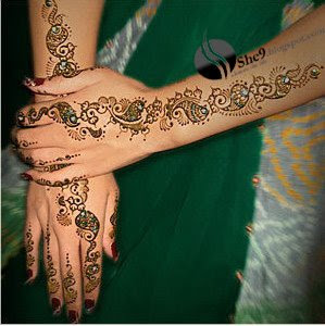 Back hand Mehndi Design for Brides
