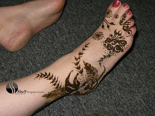 New floral and Leaf Design for feet