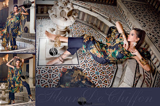 Gul+Ahmed+Stylish+Design+www.She9.blogspot.com+%289%29 More v neck and round neck shalwar kameez styles from Gul Ahmad