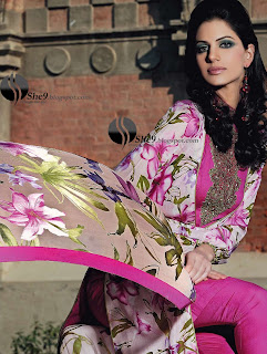 Gul+Ahmed+Stylish+Design+www.She9.blogspot.com+%282%29 More v neck and round neck shalwar kameez styles from Gul Ahmad