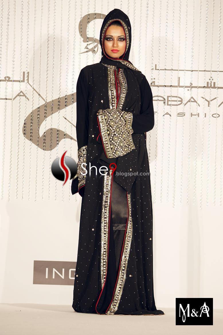 embroidered abaya in open shirt designs. This embroidered Arabic abaya ...