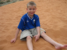 Joshua in the sand