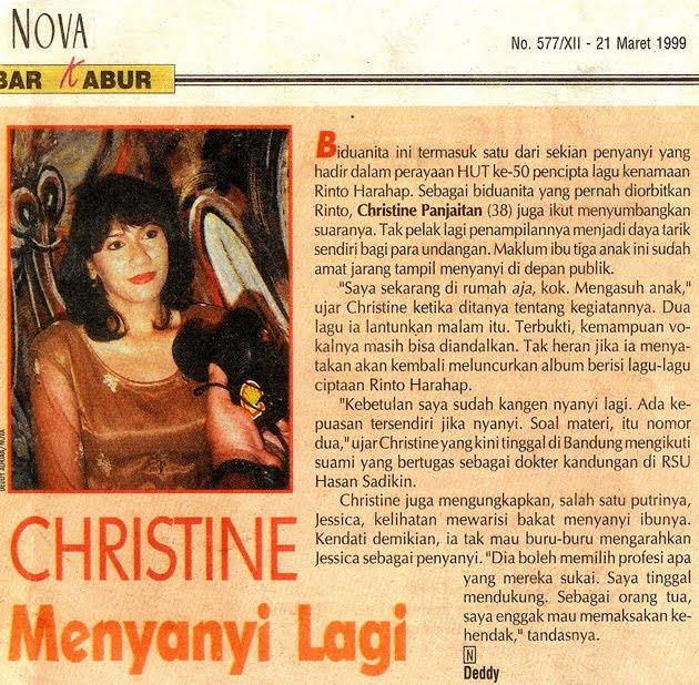 Christine Panjaitan, Saat Depresi masih dapt undangan menyanyi di Kaltim.