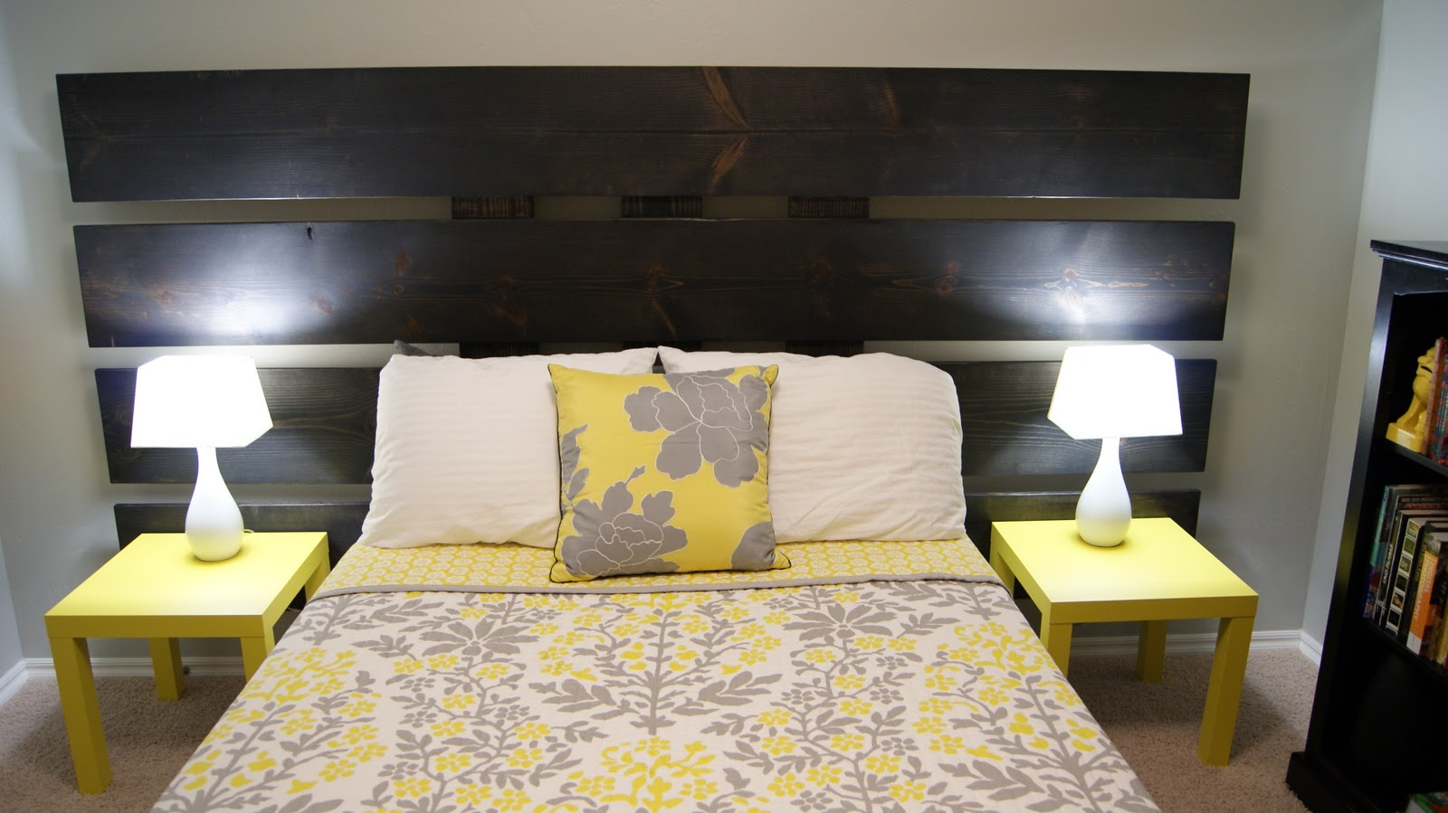 Living small yellow and gray bedroom update for Gray and yellow bedroom