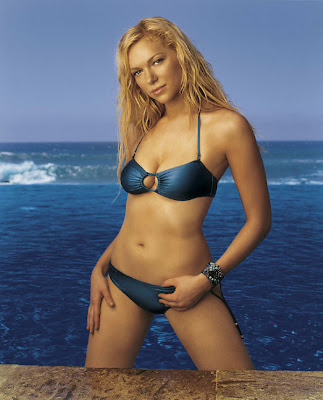 Laura Prepon in Beautiful Bikini Model Photo Shoot Session at a Wonderful Blue Beach