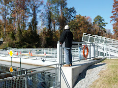 Fred enjoyed watching the bridge swing at the Dismal Swamp Visitor's Center