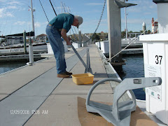 Knute, our new Rockna anchor, awaiting installatin.  Boy, does he grab and hold the bottom!