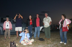 Barb, Randy, Linda, Annie, Andy, Neil and Sheila watching Discovery disappear
