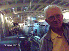 Fred and the U-Boat U-505 captured in WW II