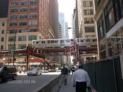 Downtown Chicago--the El--can't you just feel the energy?  Love it!