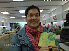 "Jemina, an Apple store acquaintance, and her newly published book, ""Herman's Journey"""