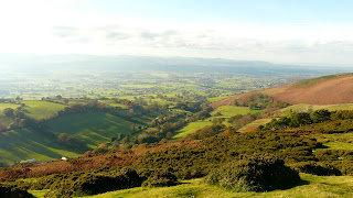 looking west from Moel-Y-Parc