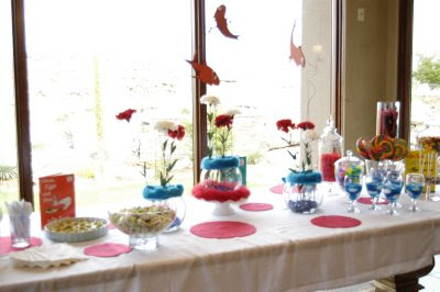 All the cute table decor that goes along with all the bright colors of ...