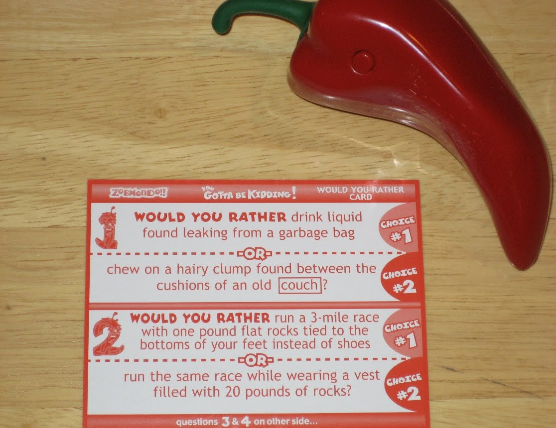 would you rather card game instructions
