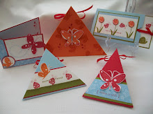 Garden Whimsy Triangle Boxes &amp; Cards Stamp Class