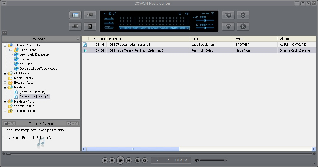 Jet Audio 7.0.5.3040 Plus Vx (Full Version) Skin